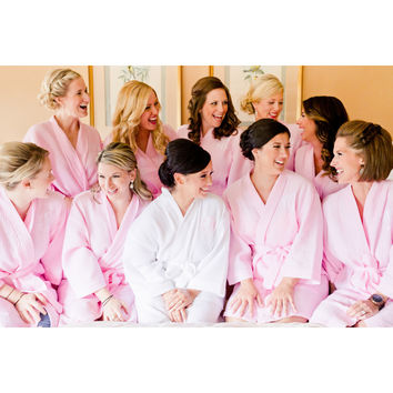 Monogrammed Bridal Party Kimono Robes - Bridesmaid Getting Ready Gifts