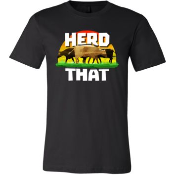 Farmer Funny Herd That Cow Lovers T Shirt