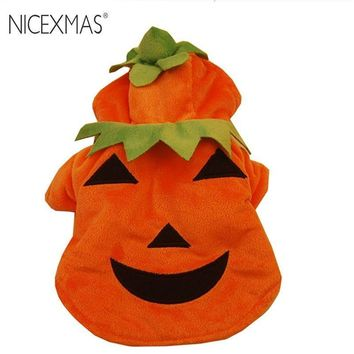 NICEXMAS Funny Pumpkin Pet Clothes Puppy Fancy Halloween Cosplay Costume Halloween Party Christmas Gift