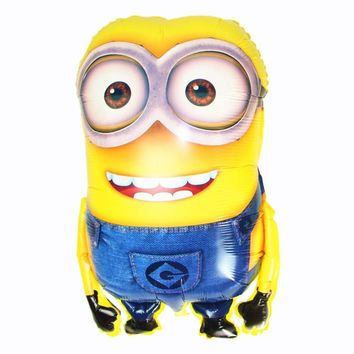 Lucky 5pcs/lot 92*65 cm Large Size Minions Balloon Classic Toys Inflatable Foil Helium Balloons For Party / Birthday Decoration