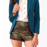 Solid Notched Lapel Blazer