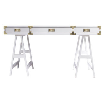 Sparrow Lake Lacquer Study Desk - White