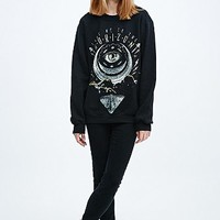 Black Moon Eclipsed Moon Sweatshirt in Black - Urban Outfitters