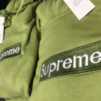 Supreme Long Sleeve Hooded Sweater Jacket