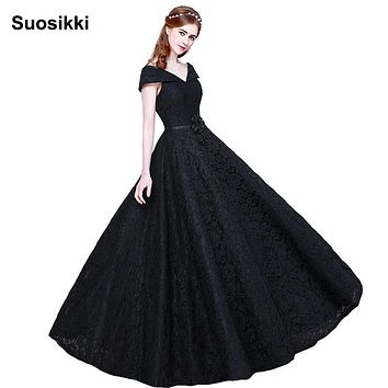 Suosikki New Arrival Lace Top Long Prom Dresses Vestido De Festa Longo Floor Length Evening Party Dress Dresses