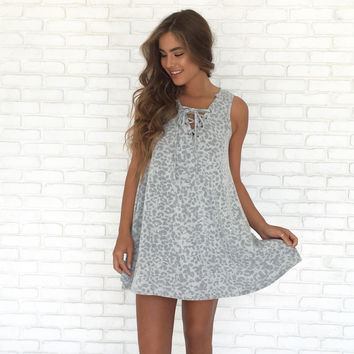 Charming Cheetah Print Shift Dress
