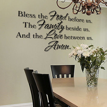 Vinyl Wall Decal Sticker Bless The Food #5432