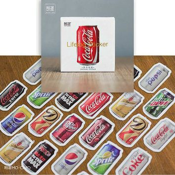 DCCKL72 45pcs/pack Coke bookmarks Diary Stickers Pack Post it Planner Scrapbooking Sticky Stationery Escolar 2016 New School Supplies