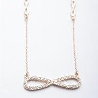 Eternal Charm Infinity Necklace - Gold from Jewelry & Accessories at Lucky 21 Lucky 21