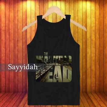 the walking dead street , Tank Top Beautyful Design By : Sayyidah