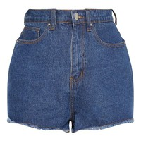 Mid Wash Shelby High Waisted Denim Short