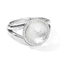 Ippolita Lollipop Ring In Mother-Of-Pearl Doublet With Diamonds