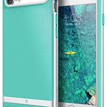 iPhone 7 Case, iPhone 8 Case, Caseology [Wavelength Series] Slim Dual Layer Protective Textured Grip Corner Cushion Design for Apple iPhone 7 (2016) / iPhone 8 (2017) - Mint Green