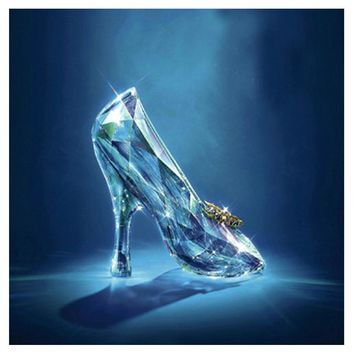 beauty and the Beast,Princess,crystal shoes,Diamond embroidery,DIY diamond Painting rhinestone 3D picture cross stitch pattern