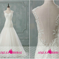 RW302 Lace Wedding Dress Crystal Puffy Bridal Dress Long Bridal Gown Long Beaded Wedding Gown Lace Bridal Gown Lace Bridal Dress