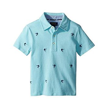 Polo Ralph Lauren Kids Knit Cotton Oxford Shirt (Toddler)