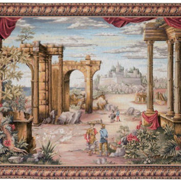 Vue Antique European Tapestry Wall Hanging