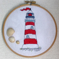 Cross stitch pattern PDF Lighthouse Instant Download