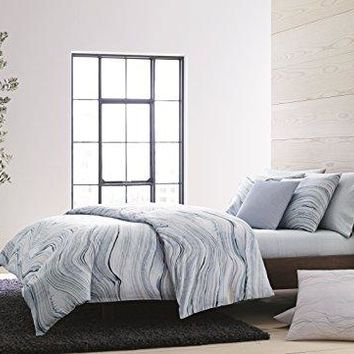 Calvin Klein Home Quartz, Queen Duvet Set, Fog, 3 Piece