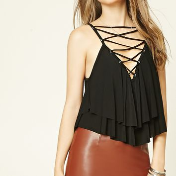 Strappy Flounce Cami