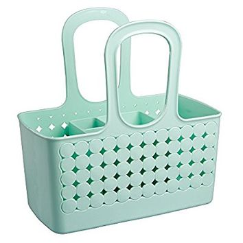 Orbz Divided Bath Shower Tote, Small, Mint