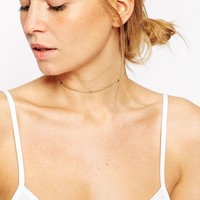 ASOS Gold Plated Sterling Silver Triangle Choker Necklace