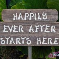 Reclaimed Wood HAPPILY EVER AFTER STARTS HERE by TRUECONNECTION