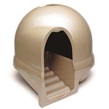 Petmate Booda Dome Clean Step Litter Box Titanium
