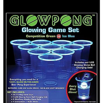 Glowing Competition Game Set-Green vs. Ice Blue - Spencer's