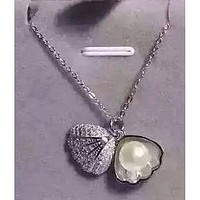 Sterling Silver Clam Pendant & Freshwater Pearl