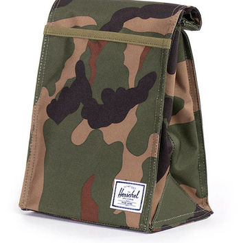 HERSCHEL SUPPLY CO KIDS CANTEEN LUNCH BAG - WOODLAND CAMO
