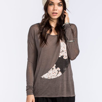 O'neill Daisy Moon Womens Tee Charcoal  In Sizes