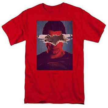 Batman vs. Superman Superman Poster Red Adult T-Shirt