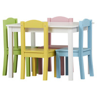 Zoomie Kids Samira Kids 5 Piece Table and Chair Set & Reviews | Wayfair