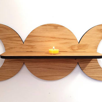 Oak Triple Goddess shelf - Pagan Witch - Sun Moon Goddess -  Wiccan - Spell Shelf -  Triple deity - ingredient shelf