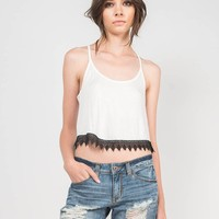 Crochet Trim Cropped Top