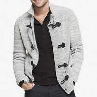 MARLED WAFFLE KNIT TOGGLE CARDIGAN from EXPRESS
