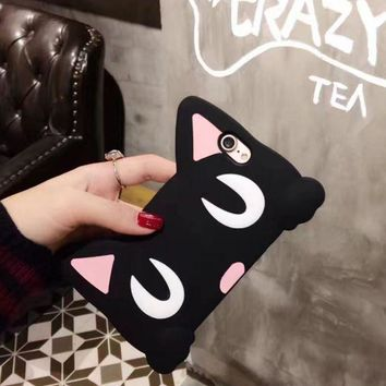 PEAPDQ7 Cut Pin Silicon Cat Iphone 7 7 Plus & iPhone 6 6s Plus Case Cover