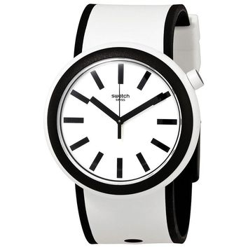 Swatch Popmoving White Dial Mens Watch PNW100