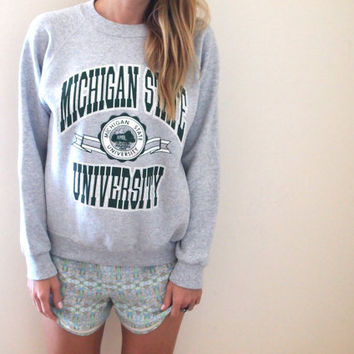 vintage Michigan State crew neck sweater by violetcrownvintage