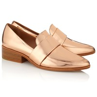 40mm Rose Gold Quinn Loafers | 3.1 Phillip Lim | Avenue32