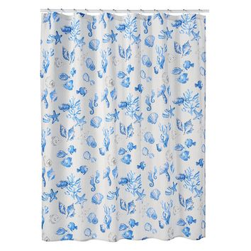 SONOMA life + style Seabrook Coastal Icon Toss Fabric Shower Curtain (Generic)