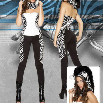 Jumpsuit Zebra Costume