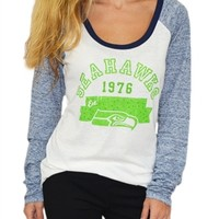 Seattle Seahawks Wideneck Raglan | SportyThreads.com
