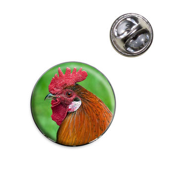 Rooster Cock a Doodle Doo Lapel Pin