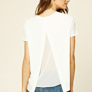 Contemporary Split-Back Top