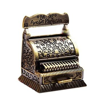 1/12 Dollhouse Miniature Metal Vintage Carving Cash register Quality