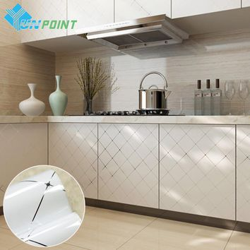 60cmx3m Modern Kitchen Cabinet DIY Decorative Films Waterproof Self adhensive Wallpapers for bedroom furniture vinyl stickers