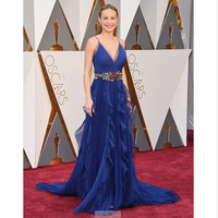 2016 88th Oscar Academy Awards Royal Blue Sleeveless