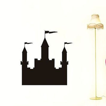 CASTLE WALL VINYL STICKER  DECALS ART MURAL B365